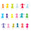 Colored children pattern — Stock Photo