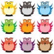 Stock Photo: Colored owls