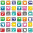 Stock Photo: colored web buttons with icons