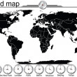 Stok fotoğraf: Detailed world map with country borders