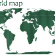 Dotted world map isolated - Stock Photo