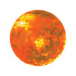 Discoball in orange tones - Stock Photo