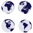 Earth globes with 4 continents — Stock Photo #2837621