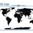 Editable world map, vector — Foto Stock