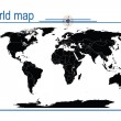 Editable world map, vector — Stock Photo