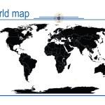 Editable world map, vector — Stock Photo #2837625