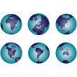Earth globes with gradient — Stock Photo