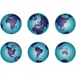 Earth globes with gradient — Stock Photo #2837629