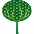 Stock Photo: Green abstract tree
