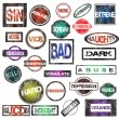 Grunge rubber stamps collection — Stock Photo