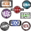 Rock music stamps — Stock Photo #2838559