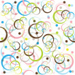 Stock Photo: Retro pattern with colored circles and d