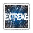 Rubber stamp with extreme — Stock Photo