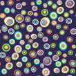 Seamless circles retro pattern — Stock Photo #2838621