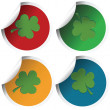 Shamrock stickers — Stock Photo
