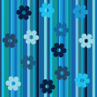 Royalty-Free Stock Photo: Stripes and flowers background