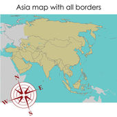 Mapa da ásia — Foto Stock