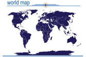 Blue world map — Stock Photo