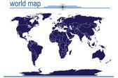 Blue world map — Stock Photo