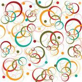 Circles and dots retro pattern — Stock Photo