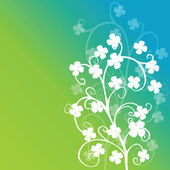 Clovers foliage on green background — Stock Photo