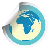Země světa na čerstvé štítků stick — Stock fotografie