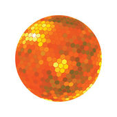 Discoball in orange tones — Stock Photo
