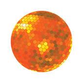 Discoball in orange tones — Stock Photo