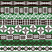 Ethnic African symbols background — Stock Photo