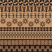 Ethnic pattern with african symbols — Stock Photo