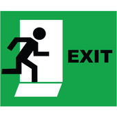 Exit sign icon — Stock Photo