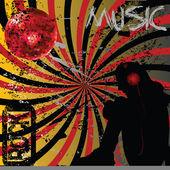 Grunge music concept — Stock Photo