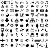 100 Icons collection — Stock Photo