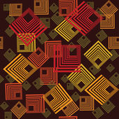 Pattern with abstract squares — 图库照片