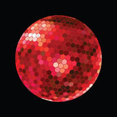 Red DiscoBall — Stock Photo