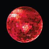 červený discoball — Stock fotografie