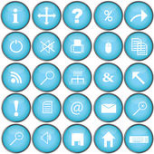 Blue buttons with pc symbols — Stock Photo