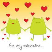 Sevgililer kurbağalar — Stok fotoğraf