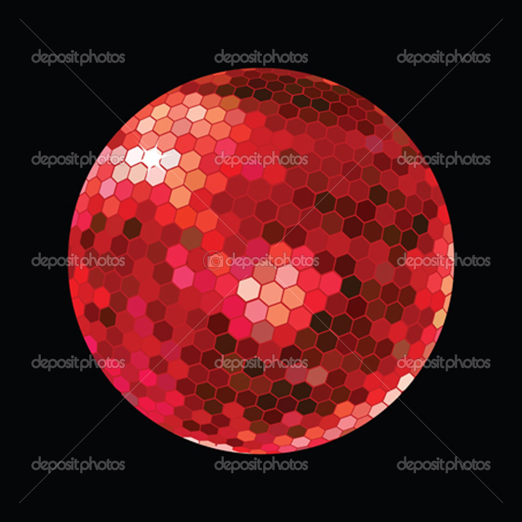 Red DiscoBall on black background — Stock Photo #2838380