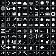 100 white icons for web aplications - Photo