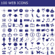 100  icons  for web applications — ストック写真