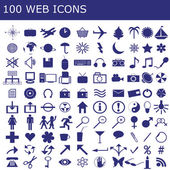100 icons for web applications — Stock Photo