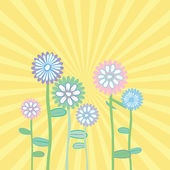 Spring greeting card in pastel tones — Stock Photo