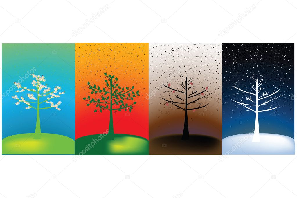Abstract concept of four seasons — Stock Photo #2852081