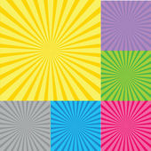 Retro radial background with sunburst — Stock Photo