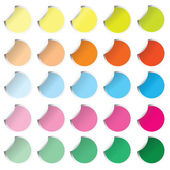 Collection of colored round stickers — Stock Photo
