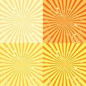 Fondo Grunge sunburst — Foto de Stock