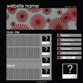 Sitio web con rojo y negro — Foto de Stock