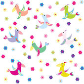 Background with stylized birds — Stock Photo