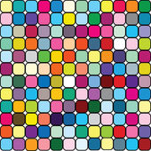 Happy background in colored squares — Stock Photo